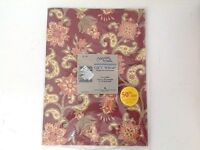 "Gibson Greetings Gift Wrap Paper 2 Sheets 20"" X 30"" Each Paisley Maroon NOS USA"