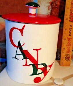 Vintage Japan Holt Howard Porcelain Christmas Candy Jar With Lid!