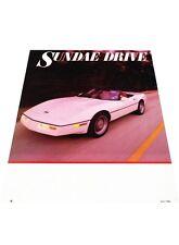 1988 Callaway Corvette Twin Turbo - Original Car Review Print Article J398