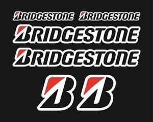 BRIDGESTONE X 6 MOTORBIKE RACING STICKERS