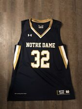 Under Amour Notre Dame Fighting Irish Basketball Jersey #32 Large Nd Navy blue