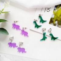 1 Pair Earrings Acrylic Animal Dinosaur Earrings Animal Ear Stud Earring Jewelry