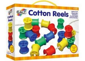 NEW Galt Cotton Reels Threading fine motor skills Colors Stacking Educational