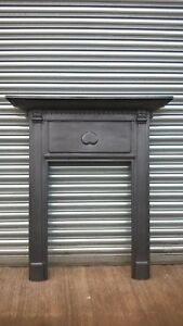 Edwardian Cast Iron Fireplace Mantel Surround  ideal for a woodburner 1908