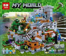 2688PCS MINECRAFT 🛤️ Experience the Great Mountain Cave Building Blocks Set 🛤️