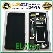 DISPLAY LCD ORIGINALE SAMSUNG GALAXY S9+ SM-G965F PLUS TOUCH SCREEN NERO BLACK