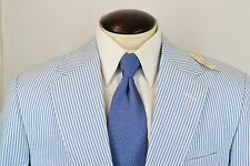 NWT Deadstock Brooks Brothers USA Made True Blue White Seersucker Suit 41S