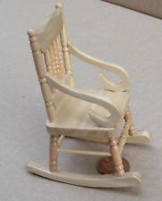 1:12 Scale Pine Wooden Rocking Chair Tumdee Dolls House Miniature Furniture 992