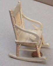 1 12 Pine Wooden Rocking Chair Dolls House Miniature Garden Furniture 92