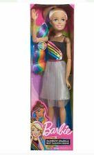 "Excellent Blonde Barbie Doll 28"" Rainbow Sparkle Best Fashion Friend Doll#83903"