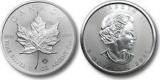 2020 maple leaf silver 1oz 5$ (canada) -.9999 plata- moneda plata hoja de arce
