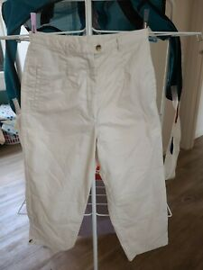 LIZ JORDAN Womens cream crop Casual Pants Size 10 New without tags