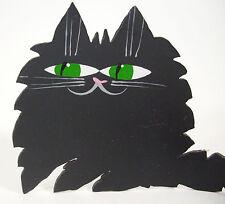 Black Cat Metal Free Form Green Eyes Wrap Tail Artist Marta Kitty Feline Figural
