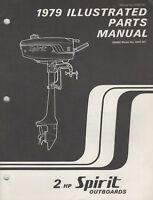 1979 ARCTIC CAT SPIRIT OUTBOARD MOTOR 2 HP PARTS MANUAL 0185-141 (631)