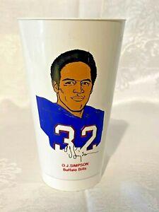1972 O.J. Simpson Buffalo Bills 7 Eleven Drink Slurpee Cup - 7-11