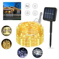 20M Solar Powered LED String Lights Outdoor Garden Wedding Party Valentine Decor