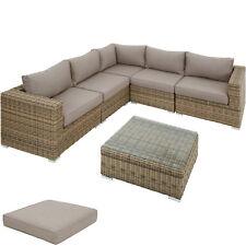 Poly Rattan Divano Sofà Salotto Lounge Set Mobilia da Giardino Terrazzo esterno