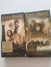 The Lord Of The Rings (VHS, 2003 ) 2 Tapes Brand New Elijah Wood Ian McKellen