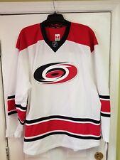 Carolina Hurricanes REEBOK EDGE Authentic NHL WHITE Jersey size 58+ /3XL NEW