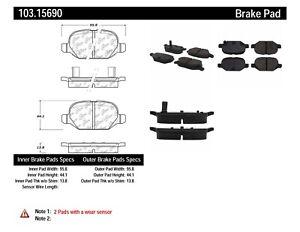 StopTech For 2009 - 2017 Fiat 500 Disc Brake Ceramic Pad Set - 103.15690
