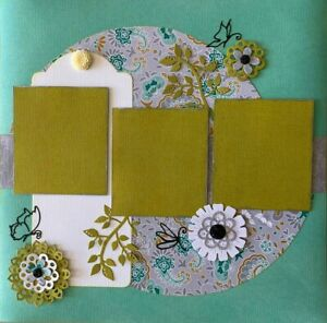 """Handmade Premade Scrapbook Page Layout ~ BUTTERFLIES ~ 12"""" x 12"""""""
