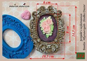 Silikonform silicone mold (314) large frame sugar crafts fimo resin cake