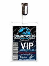 Jurassic World VIP Visitor Pass ID Badge Card Cosplay Film Prop Comic Con