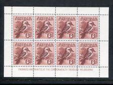 Australia 1914 Kookaburra 6d Claret stamp Minisheet Replica