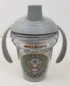 United States Army Tervis Sippy Cup 6 Oz Army Brat Commando Playground Gray Top