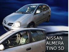 Dni24291 NISSAN ALMERA TINO deflettori del vento 2000-2006 4pc HEKO colorata