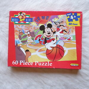 Mattel Mickey for Kids 60 Piece Puzzle Spear's Games BASKETBALL Kids Cartoons