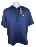 Under Armour Baseball Men's Short Sleeve Navy Pullover Hoodie Size L 1347072-410