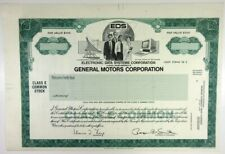 Electronic Data Systems Corp./GM Corp., 1980s Odd Shrs Specimen Stock Cert XF