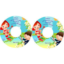 100 Sing-A-Long Nursery Rhymes & Children's Songs on 2 CDs Personalised Labels