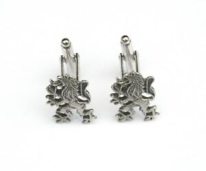 Rampant Lion Cufflinks Pewter Gift Boxed or Pouched QUANTITY DISCOUNT