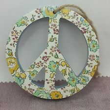 Wooden shapes peace sign Coloured  Wedding Home Gift Circular peace sign- New