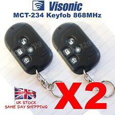 2 X Visonic Wireless Remote Keyfob for PowerMax Alarm MCT-234 868MHz - UK Seller