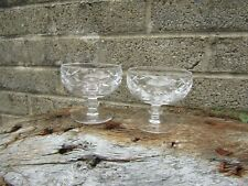 More details for pair of old waterford crystal dessert bowl dishes - irish fine cut glass