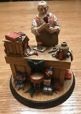 "Norman Rockwell's Heirloom Collection - 1990 ""Santa's Workshop"" Figurine #2337"