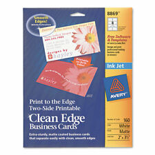 Avery  Inkjet Matte Business Cards, 2 x 3 1/2, White, 8/Sheet, 160/Pack