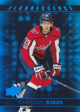 17-18 Upper Deck Christian Djoos /50 BLUE Fluorscence Rookie Capitals 2017