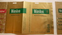 VINTAGE OLD AMERICAN USA CIGARETTE PACKET LABEL, WINSTON BRAND MENTHOL 1