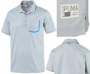 PUMA Golf Faraday Pocket Trim Polo Shirt - RRP£50 - S M L XL XXL - Quarry Grey