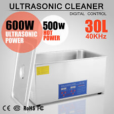 New 30L Ultrasonic Cleaner Stainless Steel Industry Heated Heater w/Timer