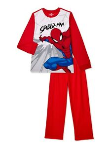 2 PAIR  MARVEL SPIDERMAN  BROWN  Sleeper Pants BOYS Size 6//7    Lightweight