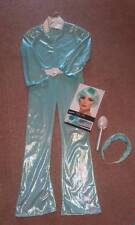 GIRLS POP STAR DIVA COSTUME AND BLUE WIG 134-146cm 7-11 YEARS approx. Worn once