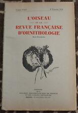 L'OISEAU et la Revue française d'Ornithologie ✤ VoL XXIII / 4è trimestre 1953