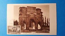FRANCE CARTE MAXIMUM YVERT 389 ARC TRIOMPHE 2F ORANGE 1943 L146