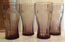 c3ee03803c25 2009 McDonald s Set of 4 Pink Coca Cola 16oz Contour Glasses Mint Condition