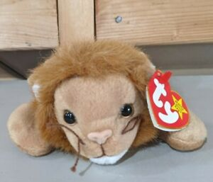 TY Beanie Baby Roary the Lion 1996 PE Pellets New condition, tag cover